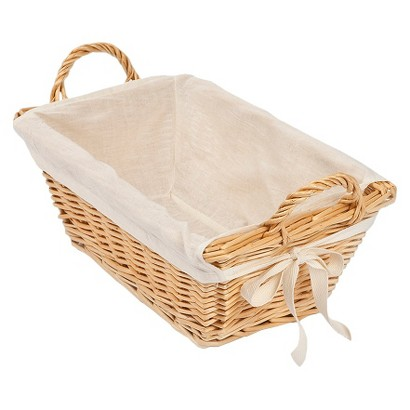"Burt's Bees Baby™ Rattan Storage Basket with Cotton Liner 13.25""x 3.75"""