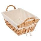 Burt's Bees Baby Decorative Basket Rattan Storage Basket with Cotton Liner - Large