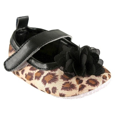 Luvable Friends™ Infant Girls' Leopard Mary Jane Shoe - Brown 0-6 M