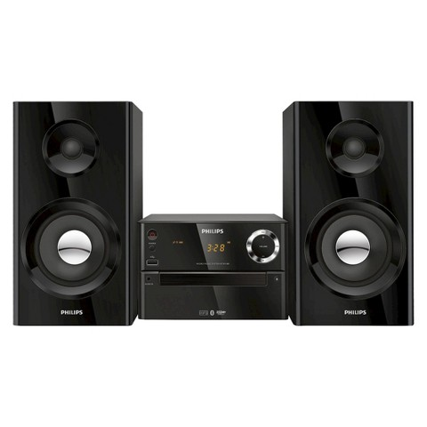 Philips Bluetooth Music System with Two-Way Bass Reflex - Black (BTM2180/37)