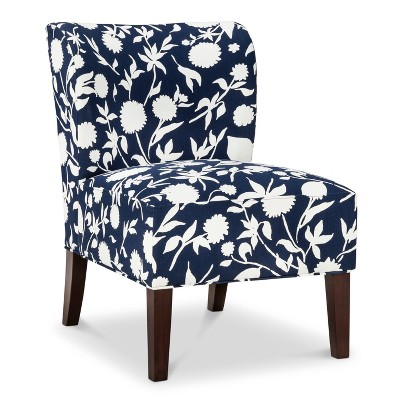 Scooped Back Chair - Navy Floral - Threshold™