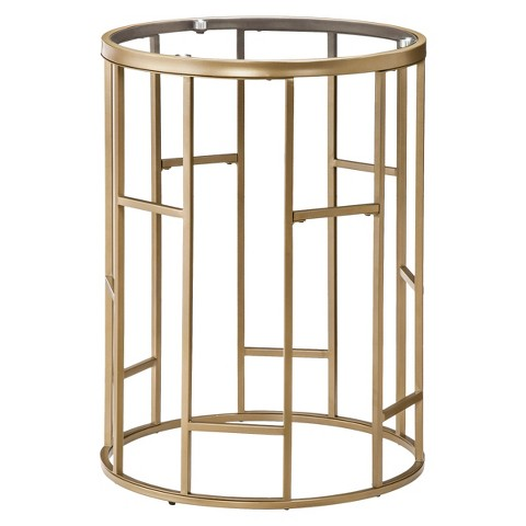 Threshold™ Round Accent Table - Gold