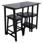 Threshold 3 Pc. Pub Set with Shelving - Espresso