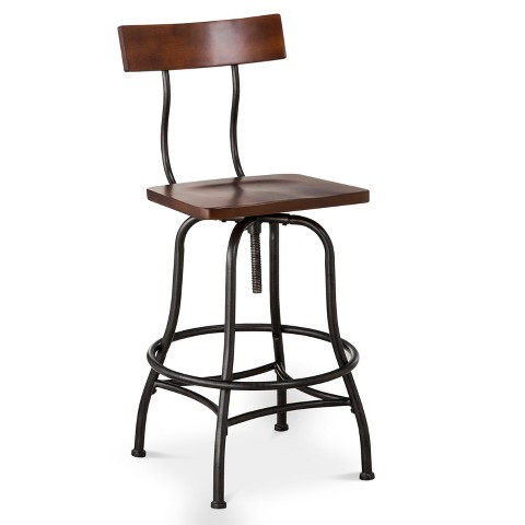 Counter Height Chairs Target : Industrial Adjustable Barstool Metal/Bronze - Threshold? product ...