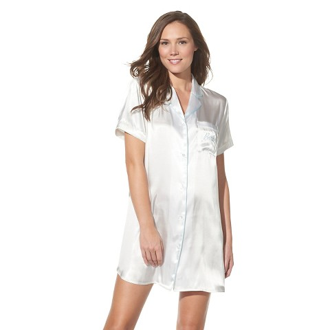 Women's Bridal Sleep Shirt Ivory - Gilligan & O'Malley®