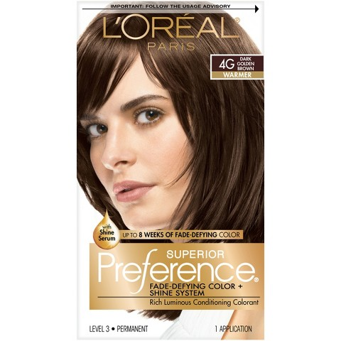 L'Oréal® Paris Superior Preference Fade-Defying Color + Shine System - 4G Dark Golden Brown