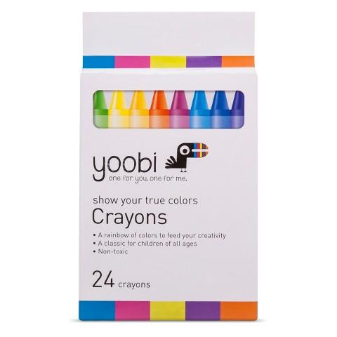 Yoobi 24ct Crayons - Multicolor
