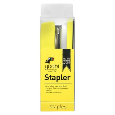 Yoobi™ Stapler with Staples - Green, 1000 Staples