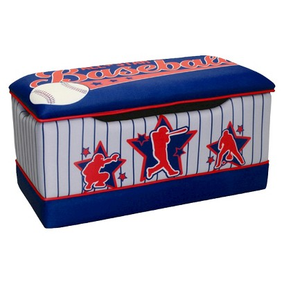 Komfy Kings Kids Deluxe Toy Box - Baseball All Star