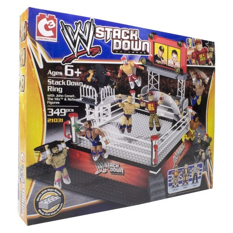 WWE® Stackdown Ring with John Cena, The Miz and Referee