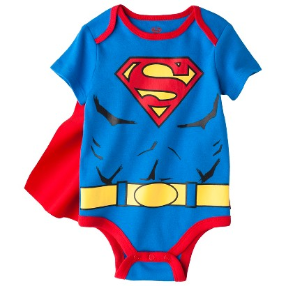 Superman® Newborn Boys' Caped Bodysuit - Blue