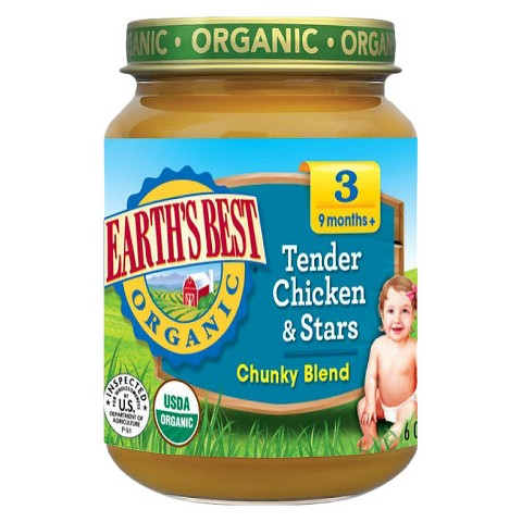 Earth's Best Organic Tender Chicken & Stars Baby Food, 6 oz. (12 Count)
