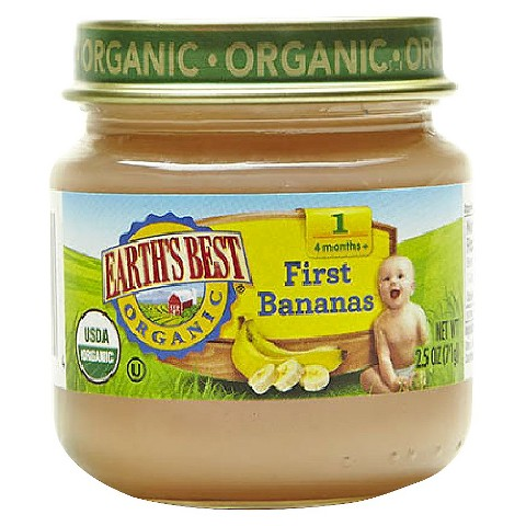 Earth's Best Organic First Bananas Baby Food, 2.5 oz. (12 Count)