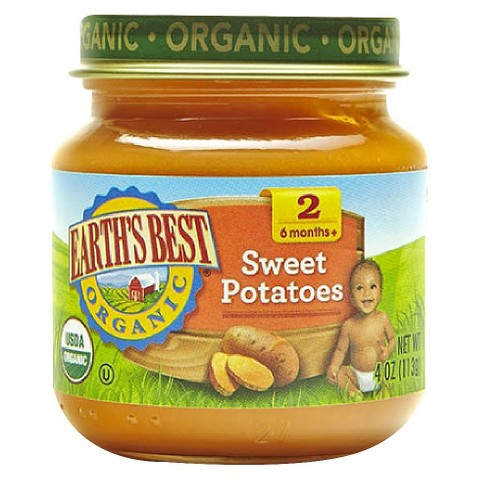 Earth's Best Organic Sweet Potatoes Baby Food, 4 oz. (12 Count)