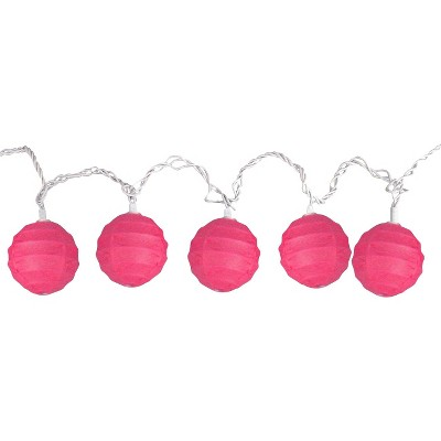Room Essentials™ Paper Globe String Lights - Pink