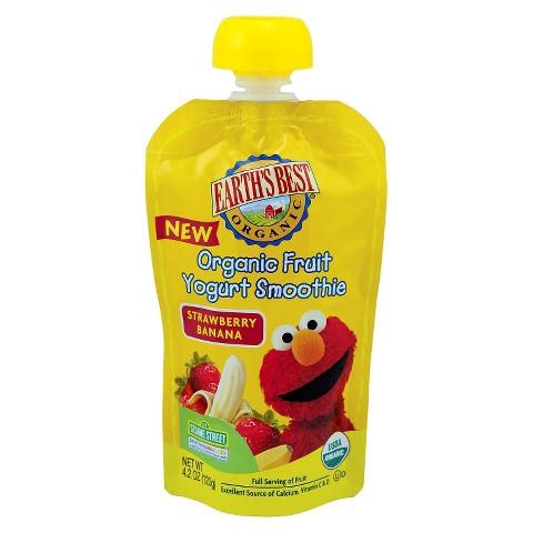 Earth's Best Organic Fruit Yogurt Smoothie - Strawberry Banana 4.2oz (12 Pack)