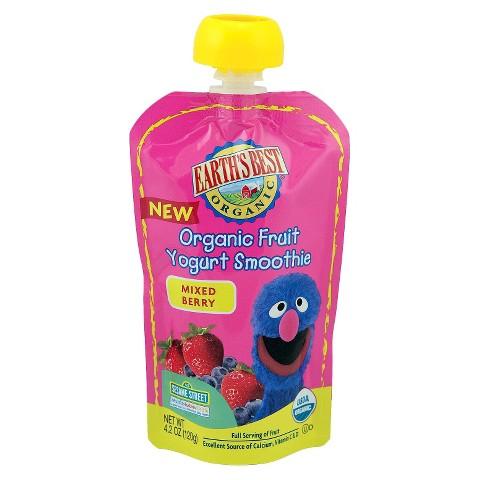 Earth's Best Organic Fruit Yogurt Smoothie - Mixed Berry 4.2oz (12 Pack)