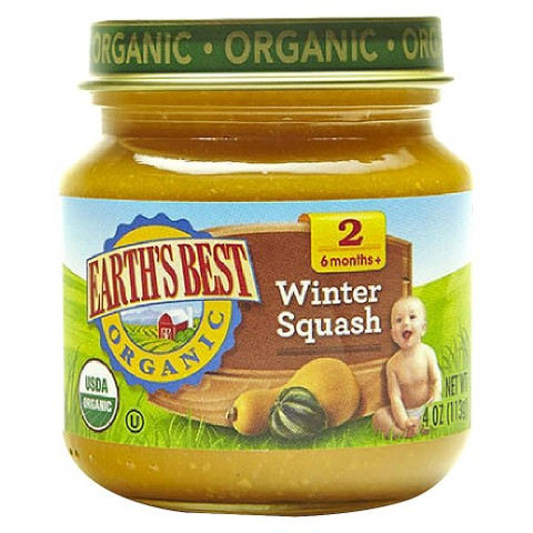 Earth's Best Organic Winter Squash Baby Food, 4 oz. (12 Count)