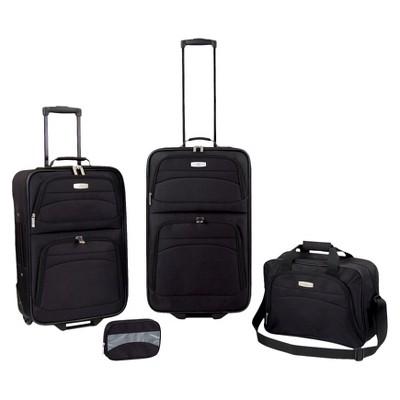 Tradewinds Granada 4pc Luggage Set - Black