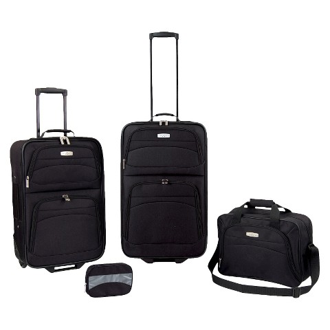 Tradewinds Granada 4-Piece Luggage Set - Black
