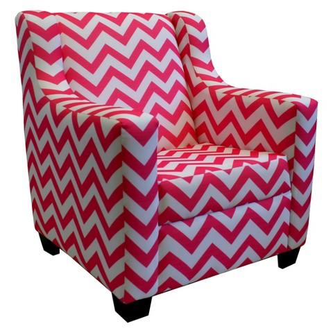 Komfy Kings Retro Chevron Rocking Chair - Pink
