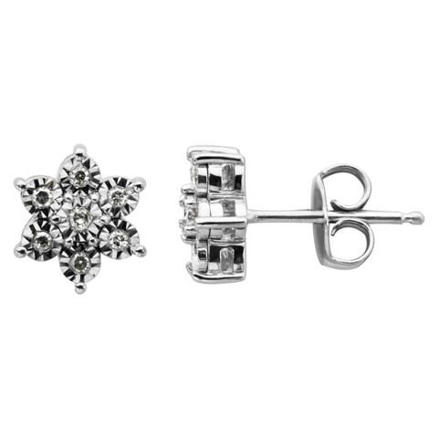 0.098 CT.T.W. Diamond Accent Stud Earrings in Sterling Silver