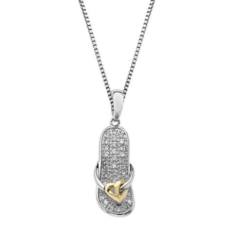 0.11 CT.T.W. Diamond Sandal Pendant in Sterling Silver