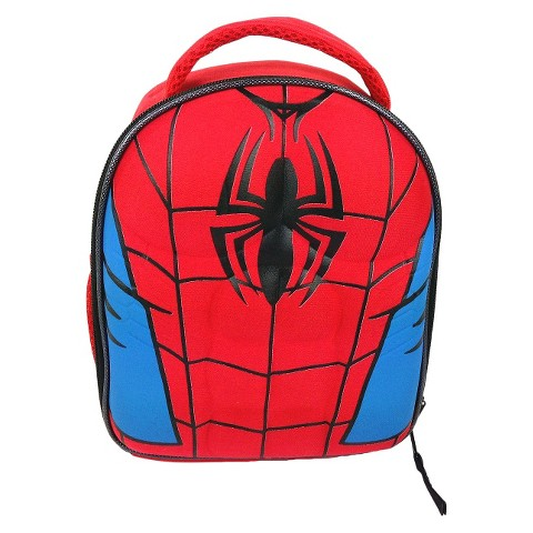 Marvel Spiderman Molded Chest Lunch Kit - Red