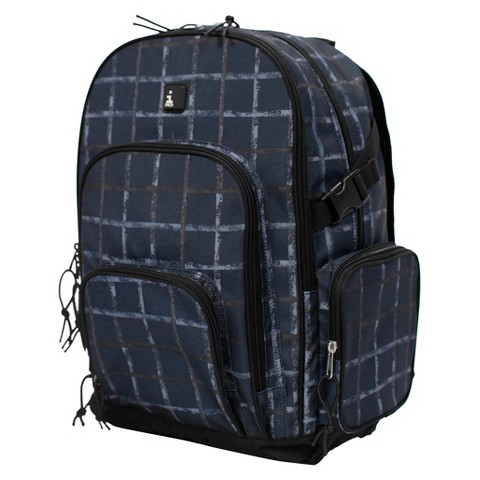 Backpack iPack - Black Chalk Grid Print