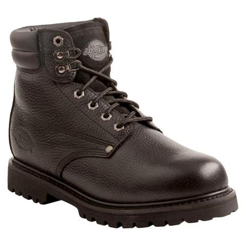 Men's Dickies® Raider Genuine Leather Steel Toe Work Boots - Black