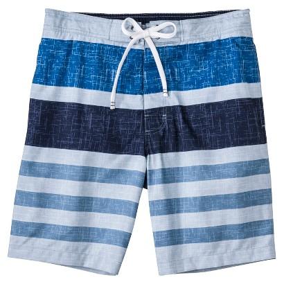 """Merona® Men's 9"""" Blue Stripe Boardshort"""