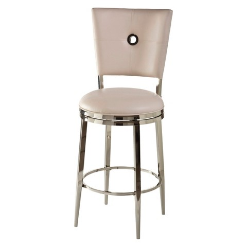 """Hillsdale Furniture Montbrook Swivel 26"""" Counter Stool - Off White"""