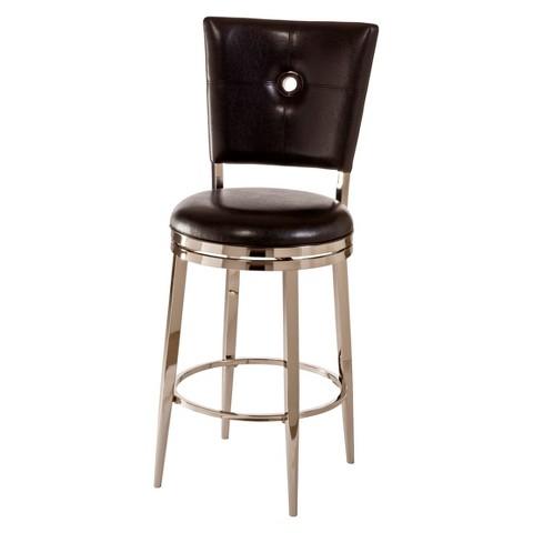 "Hillsdale Furniture Montbrook Swivel 30"" Barstool - Black"