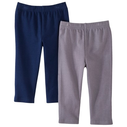Circo® Newborn Boys' 2 Pack Pants - Charcoal/Blue
