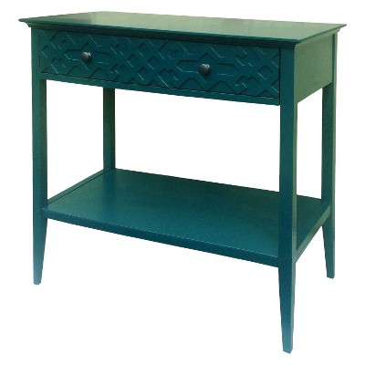 Ecom Console Table Zenith Teal Opaque Tropical Teal