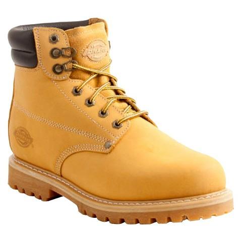 Men's Dickies® Raider Genuine Leather Steel Toe Work Boots - Wheat