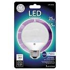 GE LED 25-Watt CAM G25 Light Bulb - Soft White, Clear Bulb