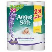 Angel Soft with Fresh Lavender Scent Toilet Paper 12 Double Rolls