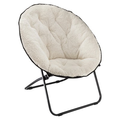 Room Essentials™ Sherpa Dish Chair White