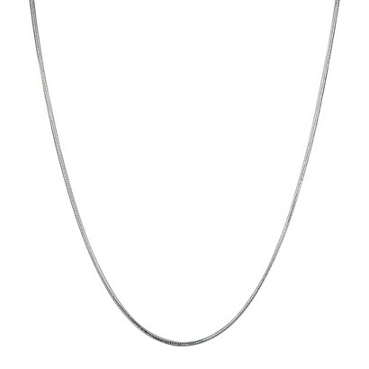 Jezlaine® Necklace Snake Chain Silver Plated - Silver