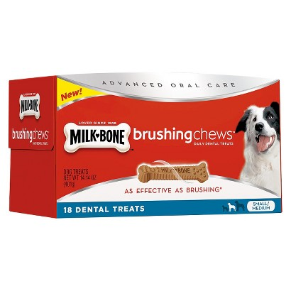 Milk Bone Brushing Chews Dog Treats - 18 Count (Medium/Small)