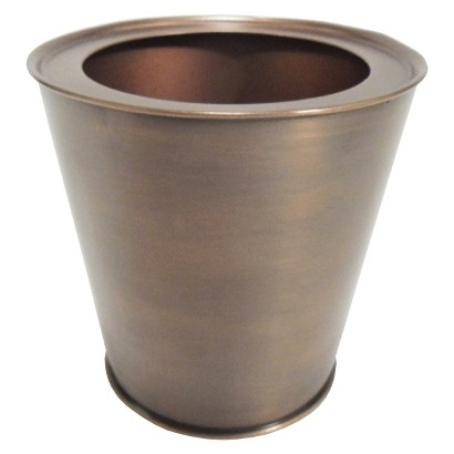 Smith & Hawken® Round Copper Finish Planter