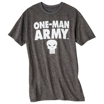 Punisher Men's Poly T-Shirt - Charcoal