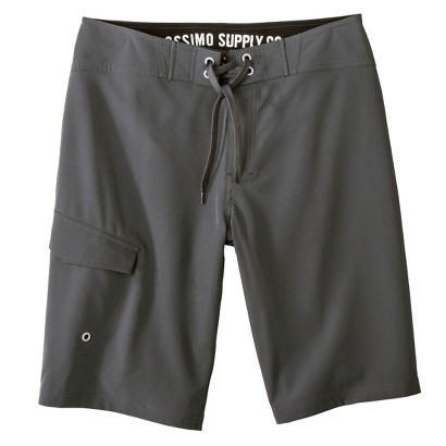 """Mossimo Supply Co. Men's 11"""" Gray Solid Boardshorts"""