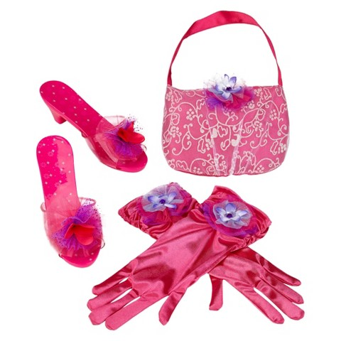 Whimsy & Wonder Pink Shoes, Purse & Gloves Bundle