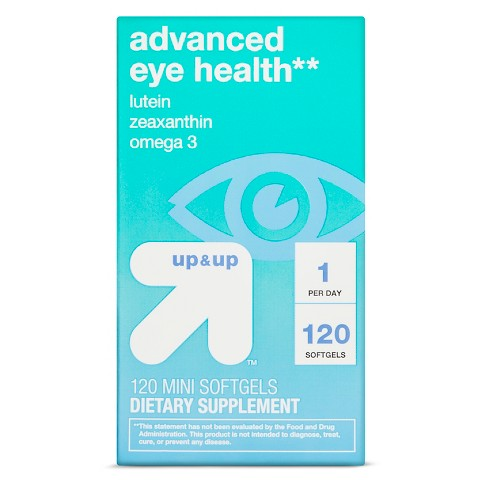 Advanced Eye Health Mini Softgels - 120 Count - up & up™