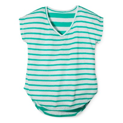 Women's Plus Size Short Sleeve Striped Tee-Pure Energy