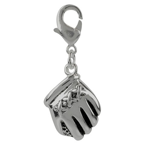 Jezlaine® Charm Silver Plated Baseball Glove - Silver /Black