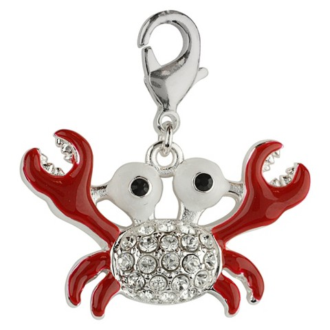 Women's Jezlaine® Charm Silver Plated Crab - Silver/Multicolor