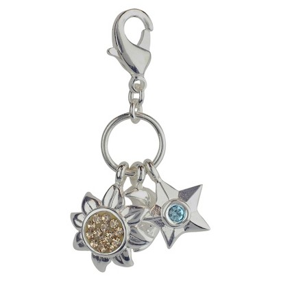 Women's Jezlaine® Charm Silver Plated Sun, Moon, Stars - Silver/Gold/Blue